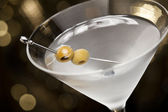 Vodka Martini with olive garnish — Stock Photo