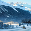 Stock Photo: Highway in Winter through mountains