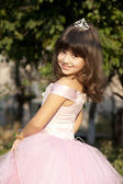 Small cute princess — Stock Photo
