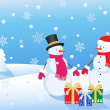 Christmas snowmans — Stock Photo #7601704