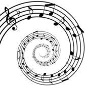 Music spiral — Stock Photo