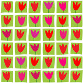 Seamless pattern of tulips — Stock Photo