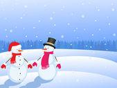 Christmas snowmans — Stock Photo