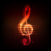 Treble clef background — Stock Photo