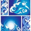 Set sea waves — Stock Vector