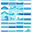 Marine waves — Stock Vector #7659208