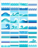 Marine waves — Vector de stock