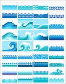 海洋波浪 — 图库矢量图片