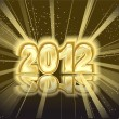 Year 2012 with many stars and lights — Stock Vector #7704142