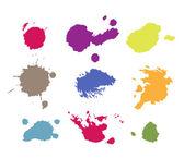 Grunge paint splashes drips and splatter — Stock Vector