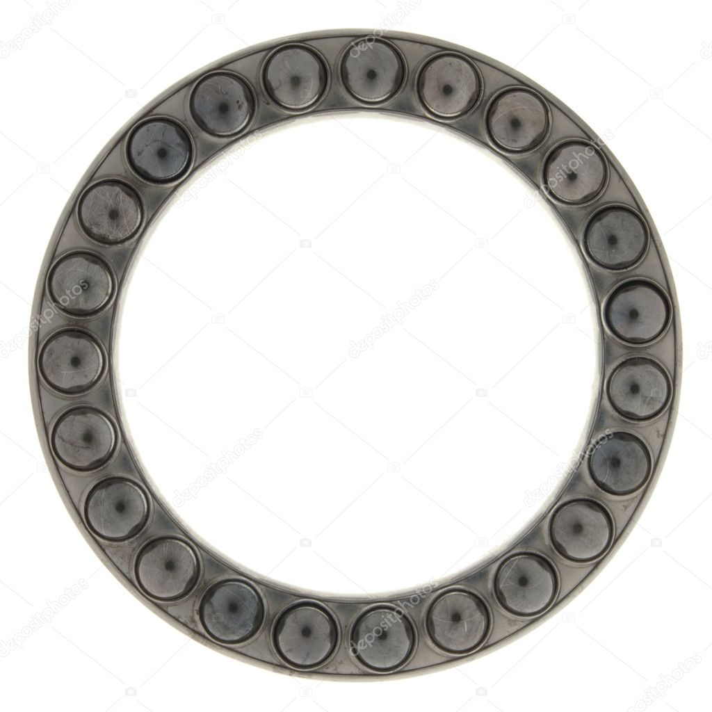 Bearing part of the round in a ring, isolated on white background. — Stock Photo #7631004