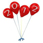 3d balloons New Year Celebration — Stock Photo