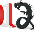 3d Chinese New Year of the Dragon 2012 - Stock Photo