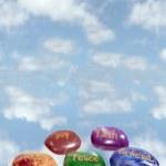 Постер, плакат: Five heavenly affirmation stones
