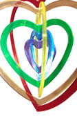Six heart shapes floating — Stock Photo