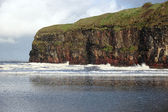 Ballybunion beach snow shower — Foto Stock
