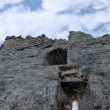Стоковое фото: Ballybunions grey old castle ruins