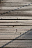 Board walk shadows — Stock Photo