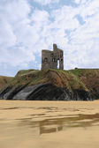 Old castle cliff ruin ballybunion — Stock Photo