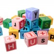 Assorted letter play blocks — Stock Photo