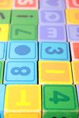 儿童游乐字母方块 — 图库照片