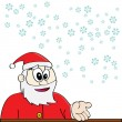 Santa Claus and snow — Stock Vector