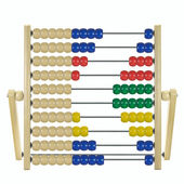Children's wooden abacus — Stockfoto