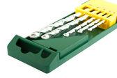 Drill bits in green case — Stock Photo