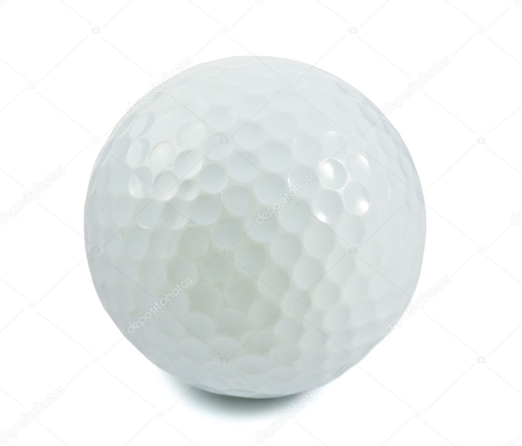 Golf ball isolated on white   Stock Photo #7092852