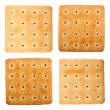 Salty crackers — Stock Photo