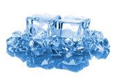 Cubos de hielo azul — Foto de Stock