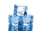 Three ice cubes — Stock Photo