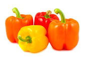 Yellow, red and orange peppers — Foto de Stock