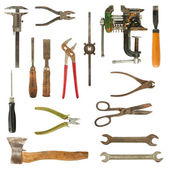 Old used tools collection — Stock Photo