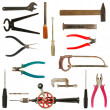 Old used tools collection 2 — Stock Photo