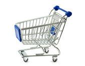 Metalowy koszyk na zakupy — Zdjęcie stockowe