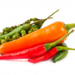 Different kinds of hot pepper — Stock Photo #7858449