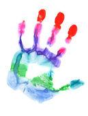 打印彩色的手 — 图库照片