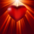 Heart shining with light of love. EPS 8 — Imagen vectorial
