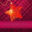 Christmas stars on red background. EPS 8 vector file included — Stock Vector