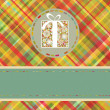 Royalty-Free Stock Vector Image: Christmas tartan background. EPS 8