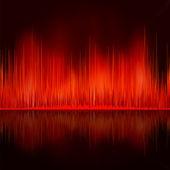 Sound waves oscillating on black background. EPS 8 — 图库矢量图片