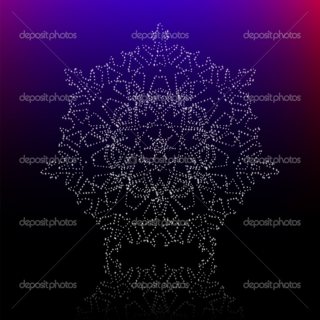 Christmas snowflake on black background. EPS 8 vector file included — Stock Vector #6937946