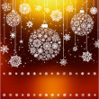Stylized Christmas Balls, Background. EPS 8 vector file included — Imagens vectoriais em stock