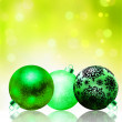 Beautiful green happy Christmas card. EPS 8 — Imagen vectorial