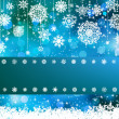 Stock Vector: Blue bokeh of christmas lights. EPS 8