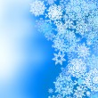 Stock Vector: Winter frozen background with snowflakes. EPS 8
