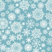 Naadloze kaart met kerstmis sneeuwvlokken. eps 8 — Stockvector