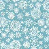 Seamless card with Christmas snowflakes. EPS 8 — Vettoriale Stock