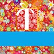 Colorful snowflakes pattern gift card. EPS 8 - Imagen vectorial